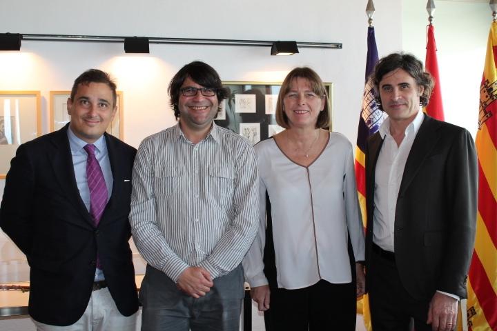 De izquierda a derecha: Felippo Billi, Pepe Vidal, Virginia Marí y Massimo Anselmi.