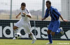 El delantero, en un partido con el Real Madrid C.