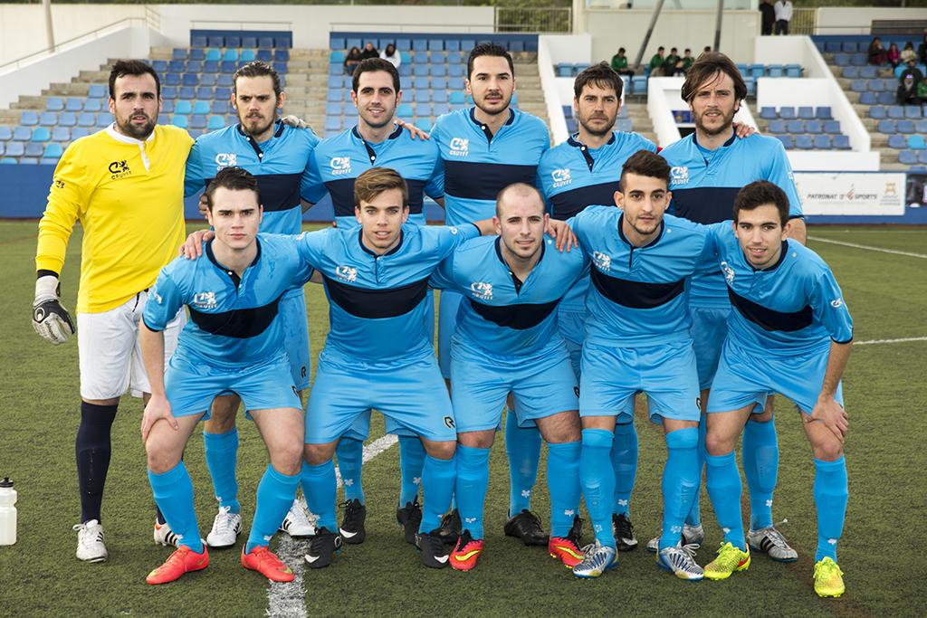 Un once titular del Ciudad de Ibiza, aspirante a ganar la Regional Preferente.