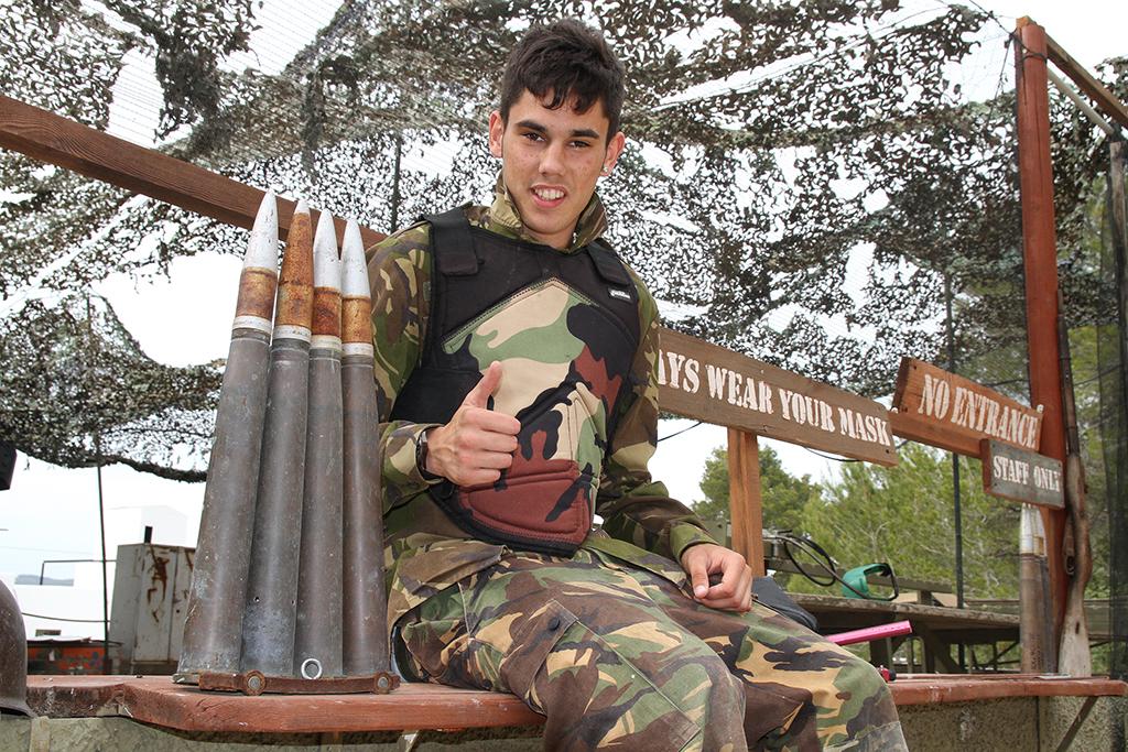 El jugador del Montuiri prepara ya tiene preparada la munición para el partido frente a la Peña.
