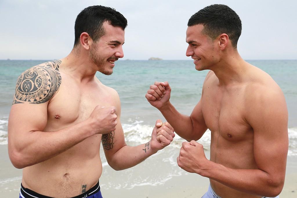 Adrián Ramos, delantero del Sant Jordi y Felipe Vega, estilete del Ibiza, esperan protagonizar un bonito duelo de goleadores.