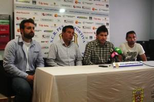 Un momento de la presentación del acuerdo de colaboración entre Peña y Villarreal. Fotos: C. V.