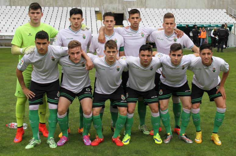 Once titular del Racing B en el partido de ida jugada en El Sardinero (Foto: Racing de Santander).