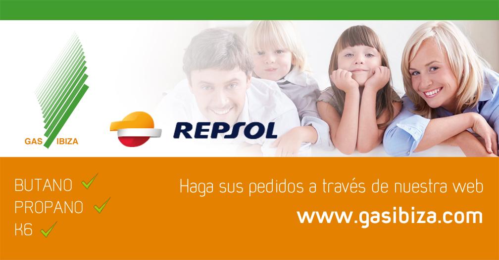 Gas Ibiza, distribuidor oficial para Ibiza y Formentera de Repsol butano.
