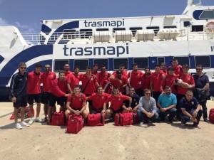 La SD Formentera al completo viajó hoy a Tafalla para jugar su decisivo partido ante la Peña Sport.
