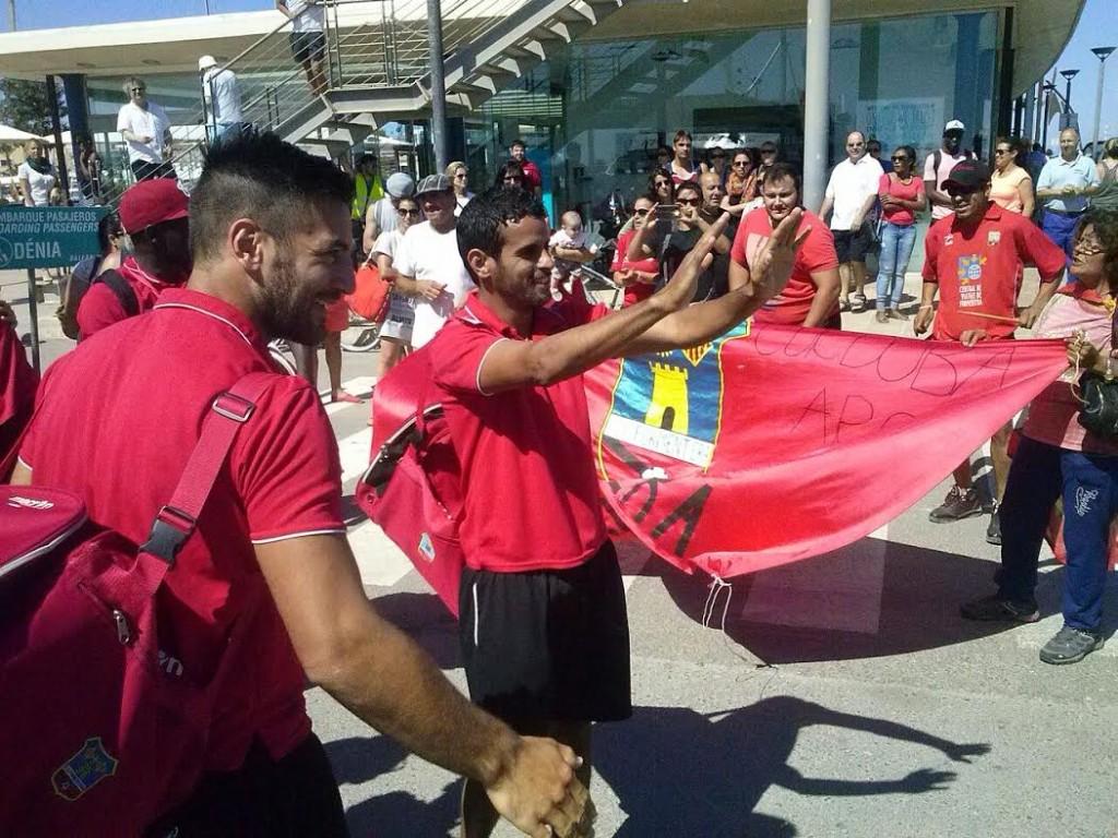 El grupo de Elcacho ha llegado esta mañana al puerto de la Savina.
