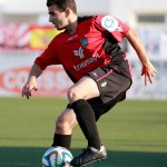 Pepe Bernal, centrocampista del Formentera, durante la eliminatoria ante la Peña Sport.