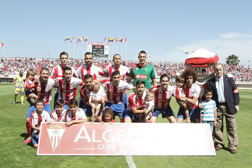 Once inicial del Algeciras en el partido de este domingo frente a la Arandina. Fotos: EuropaSur