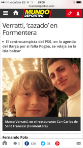 Pantallazo de Mundo Deportivo.
