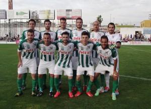 Alineación del Atlético Salunqueño en el partido de play-off frente al Teruel. Foto: La Información