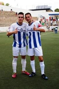 Pablo, a la izquierda, en su etapa en el Crevillente. Foto: Facebook