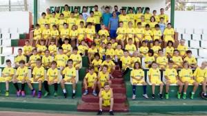 Este lunes se inauguró el primer campus de fútbol del Villarreal en el Municipal de Santa Eulària.