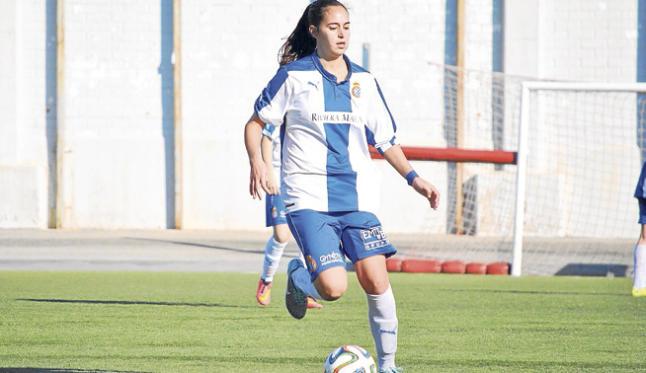 La futbolista ibicenca, en un partido de Primera División femenina con el club perico. I. J.