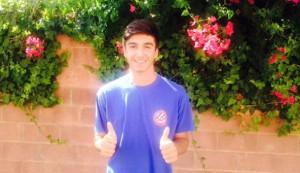 El mediapunta jugó el curso pasado en el juvenil del club ibicenco pese a ser cadete (Foto: D. I).