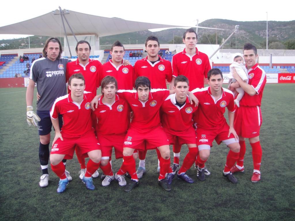 Una de las alineaciones del UD Ibiza-Eivissa de la temporada 2009-2010.