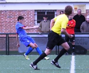 Jesús Meneses, 'Chechu', en un partido con la selección balear Sub 18. Foto: Fútbol Balear
