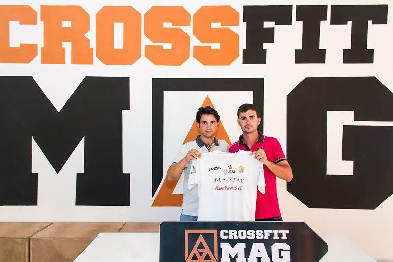 Marlon Velasco y Toni Roselló, en la presentación del jugador de la Peña Deportiva FS.