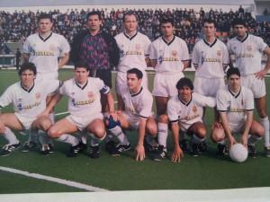 Una de las alineaciones de la Peña Deportiva de Julián Marcos.