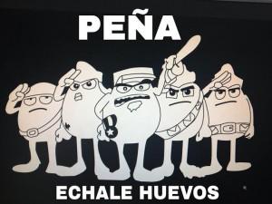 Imagen corporativa de la Peña Échale Huevos.