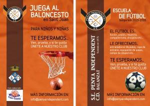 La Peña Independiente ha creado la división de baloncesto para los más pequeños.