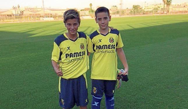 Los dos jugadores de las inferiores de la Peña Deportiva.