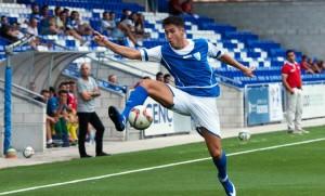 Doménech, nuevo futbolista del Formentera, en un partido con el Lucena. Foto: Lucena hoy