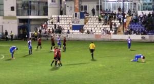 Los jugadores del Formentera celebran el triunfo en la Copa ante el Alcoyano por 1-2.