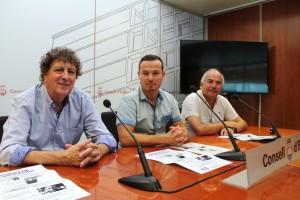 Tolo Darder, Fernando Gómez y Vicent Bufí, durante la presentación de las Jornadas de Tecnificación.