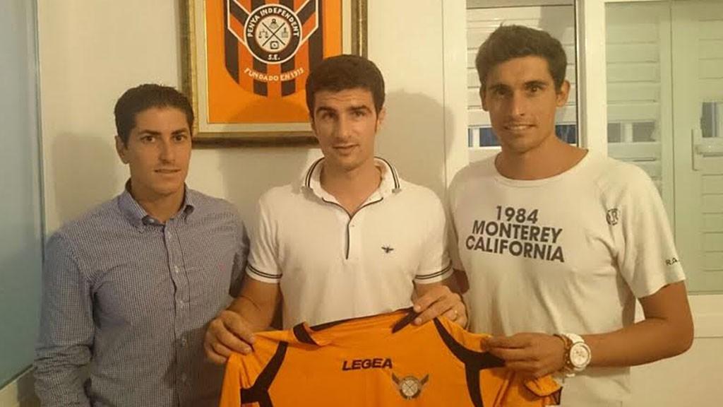 De izquierda a derecha: Miguel Jurado, secretario; Toni Curuné, presidente y Damián Massanet, coordinador deportivo.