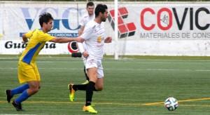 Borja Pando, autor del primer gol, en un partido reciente frente al Mercadal.