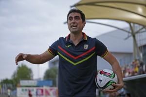 El entrenador asturiano se mostró satisfecho con el rendimiento de sus jugadores.