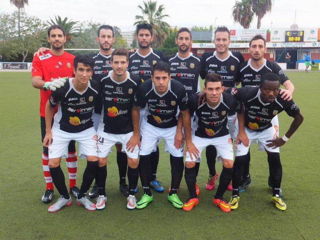 Alineación titular de la Peña en el campo del Alcúdia (Foto: Fútbol Balear).