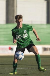 El jugador del Sant Jordi, en un partido de Liga.