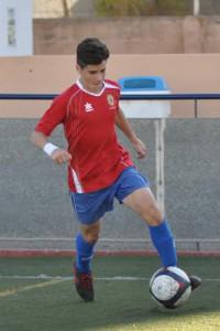 Adrián Montalbán, en un partido de Liga.