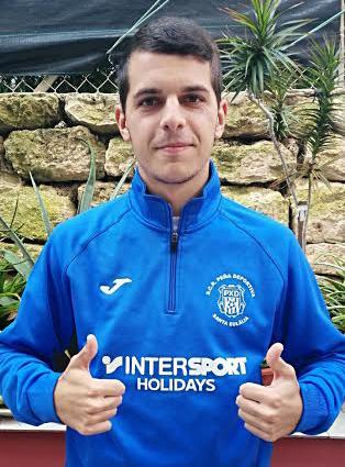 Juanfran Cabrera jugador y entrenador de la Peña.