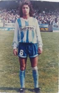 Luis Barattucci, con el Racing de Avellaneda argentino.
