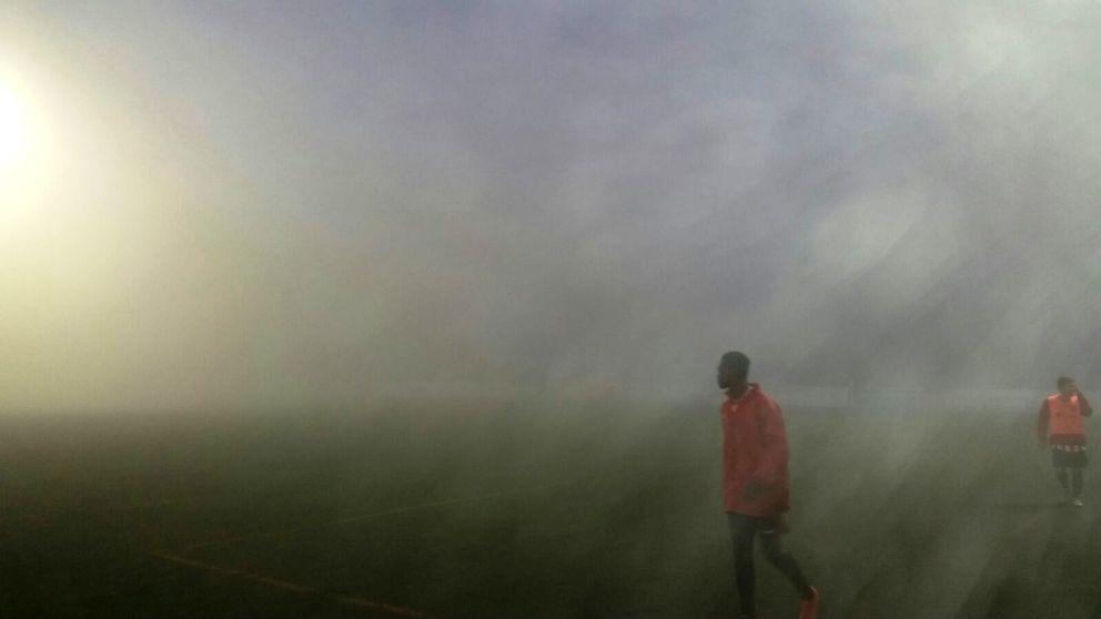 La visibilidad era nula en el terreno de juego.