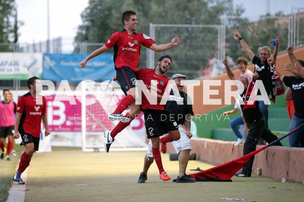 Górriz celebra un gol ante la Peña Deportiva.