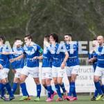 El equipo de Vicente Román celebra un gol.