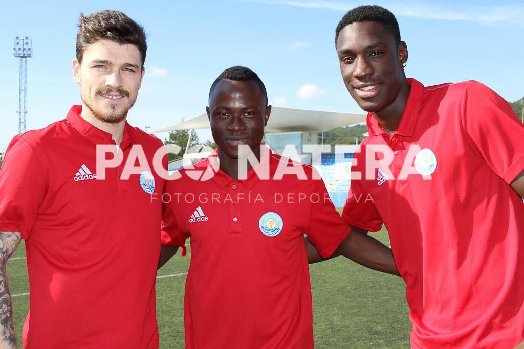 Juan Reinares, Moussa y Mansour, los tres fichajes foráneos de la UD Ibiza.