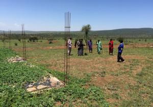 Inicio de la construcción del Aula Pepe Reina de la ONG Juntos en Tanzania