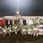 Antes de la cena, los veteranos del Luchador y de la Peña Deportiva jugaron un partido amistoso.