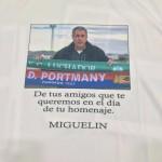 Camiseta que se ha hecho con motivo del reconocimiento a Miguel Marín, Gurupa.