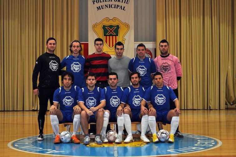 Foto del primer partido oficial del equipo frente al Gasifred B en Santa Eularia  (Enero 2010).