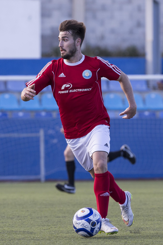 Brian, autor de cinco goles en siete partidos el curso pasado (Fotos: Paco Natera).