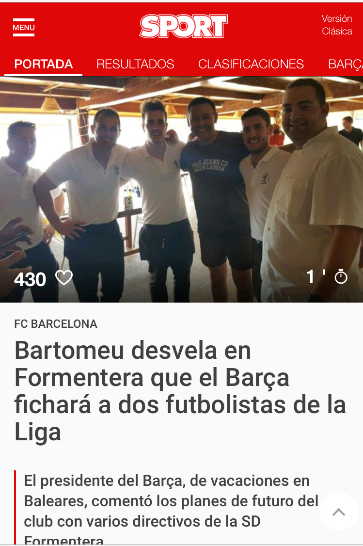 Pantallazo de Sport.