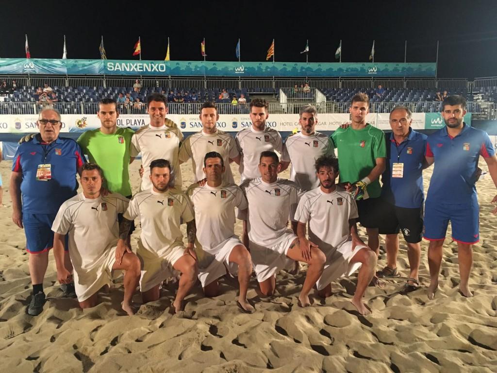 Selección de Baleares en el Campeonato de España disputado en Sanxenxo (Foto: Fútbol Pitiuso).