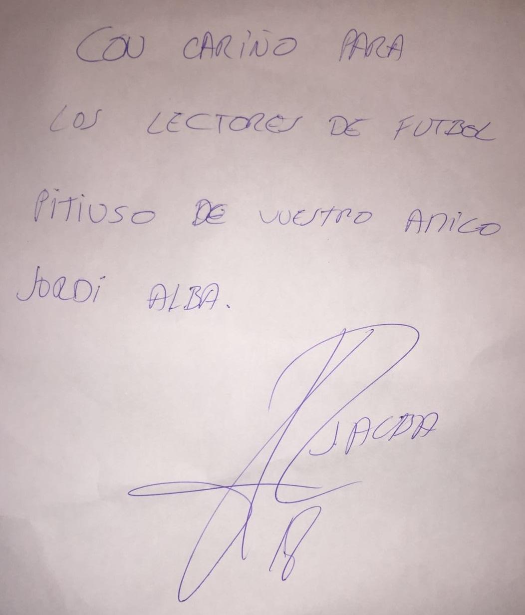 Saludo del jugador del Barça a los lectores de Fútbol Pitiuso.
