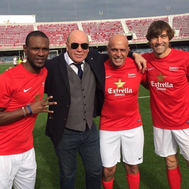 Abidal, Labi, Kiko Matamoros y Julio Salinas (Foto: Fútbol Pitiuso).