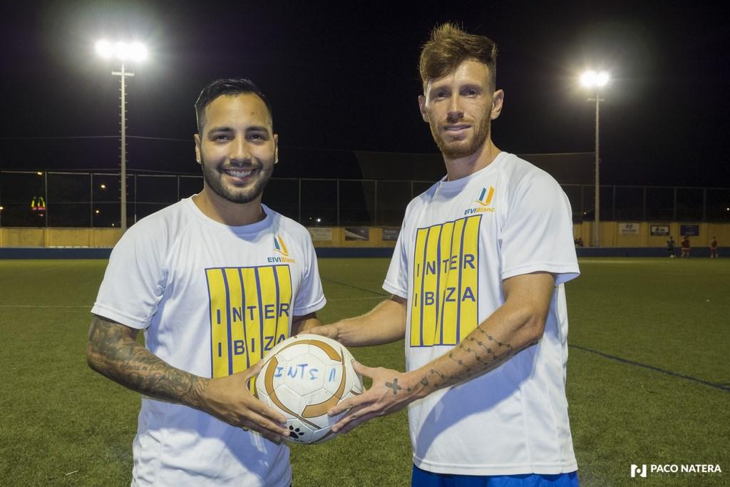 Nahuel Bustamente (izquierda) y Carlos Vilmar son los últimos fichajes del Inter Ibiza.